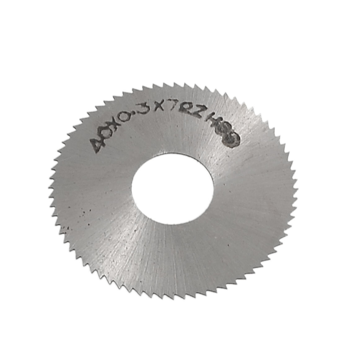 "40mm 1 9/16"" OD 0.3mm Thickness HSS Round 72T Slitting Saw"