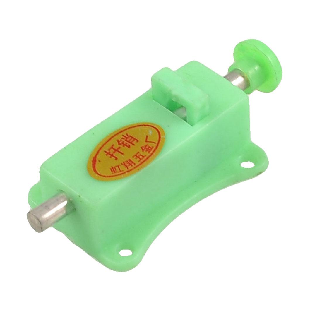 Door Green Plastic 2.5mm Thread Dia Push Button Control Automatic Barrel Bolt