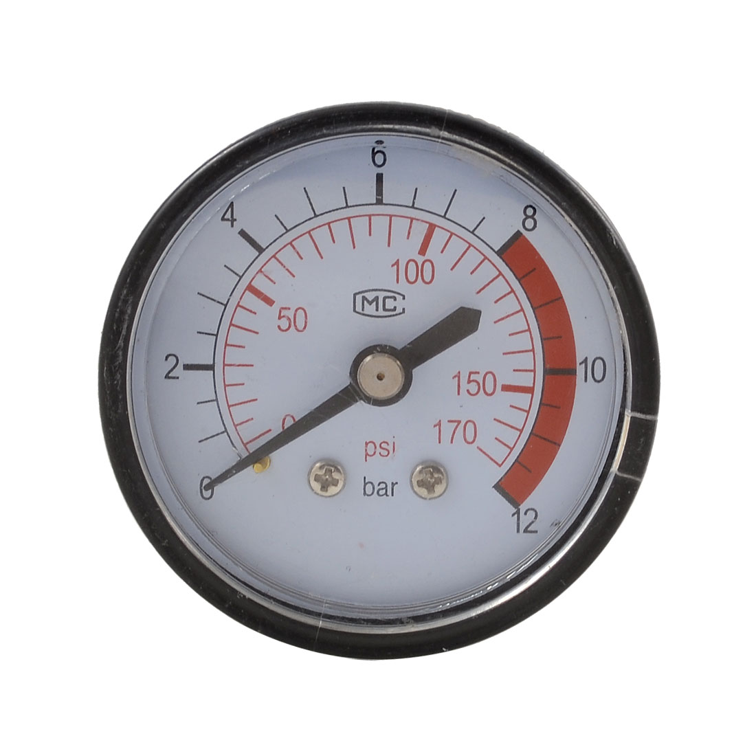 53mm Body 13mm Thread Gas Air Pressure Gauge Compressor Manometer 0-12BAR 0-170PSI