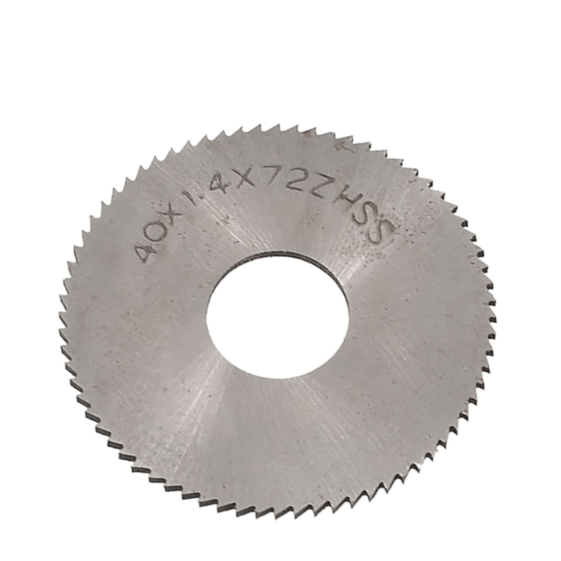 Silver Tone HSS 40mm x 1.4mm x 13mm 72T Slitting Saw