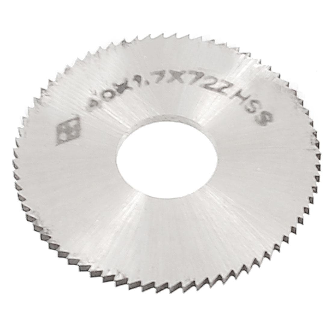 "40mm 1 9/16"" OD 1.7mm Thickness 72T HSS Circular Slitting Saw"