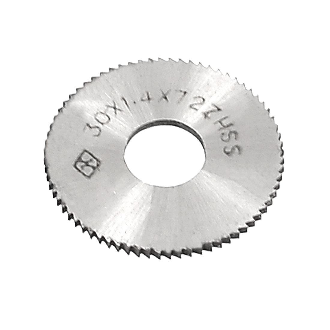 30mm x 1.4mm x 10mm 72T HSS Circle Slitting Saw Cutting Tool