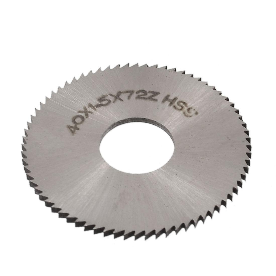 40mm x 1.5mm x 13mm 72T HSS Steel Round Slitting Saw Cutter