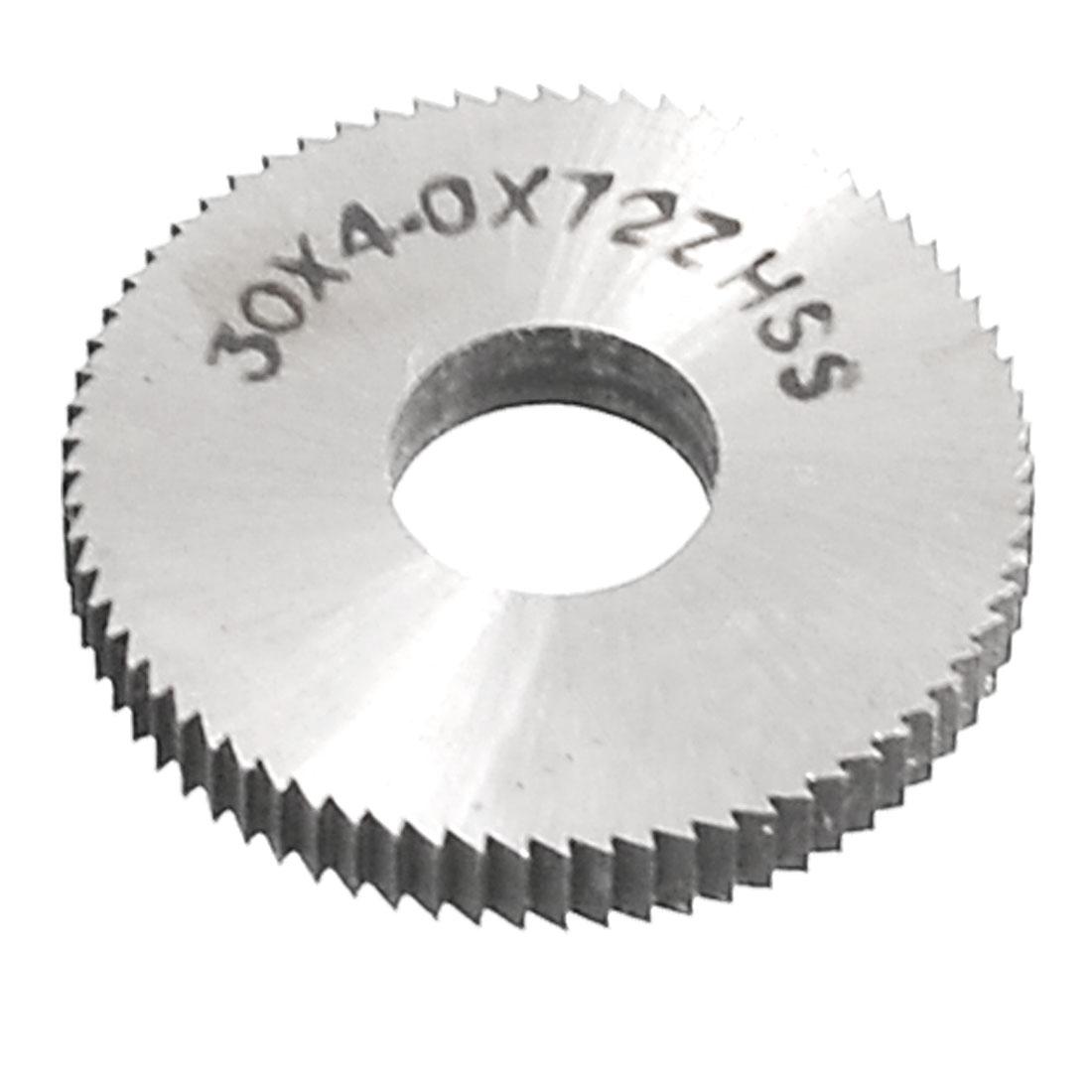 30mm x 4mm x 10mm HSS 72T Round Slitting Saw Cutting Tool