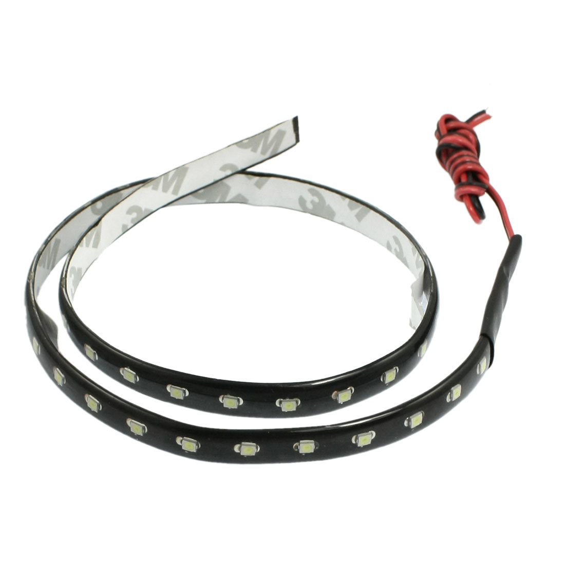 "24"" 60cm White 3528 SMD 44 LED Side Shine Strip Light Car Truck DRL White"