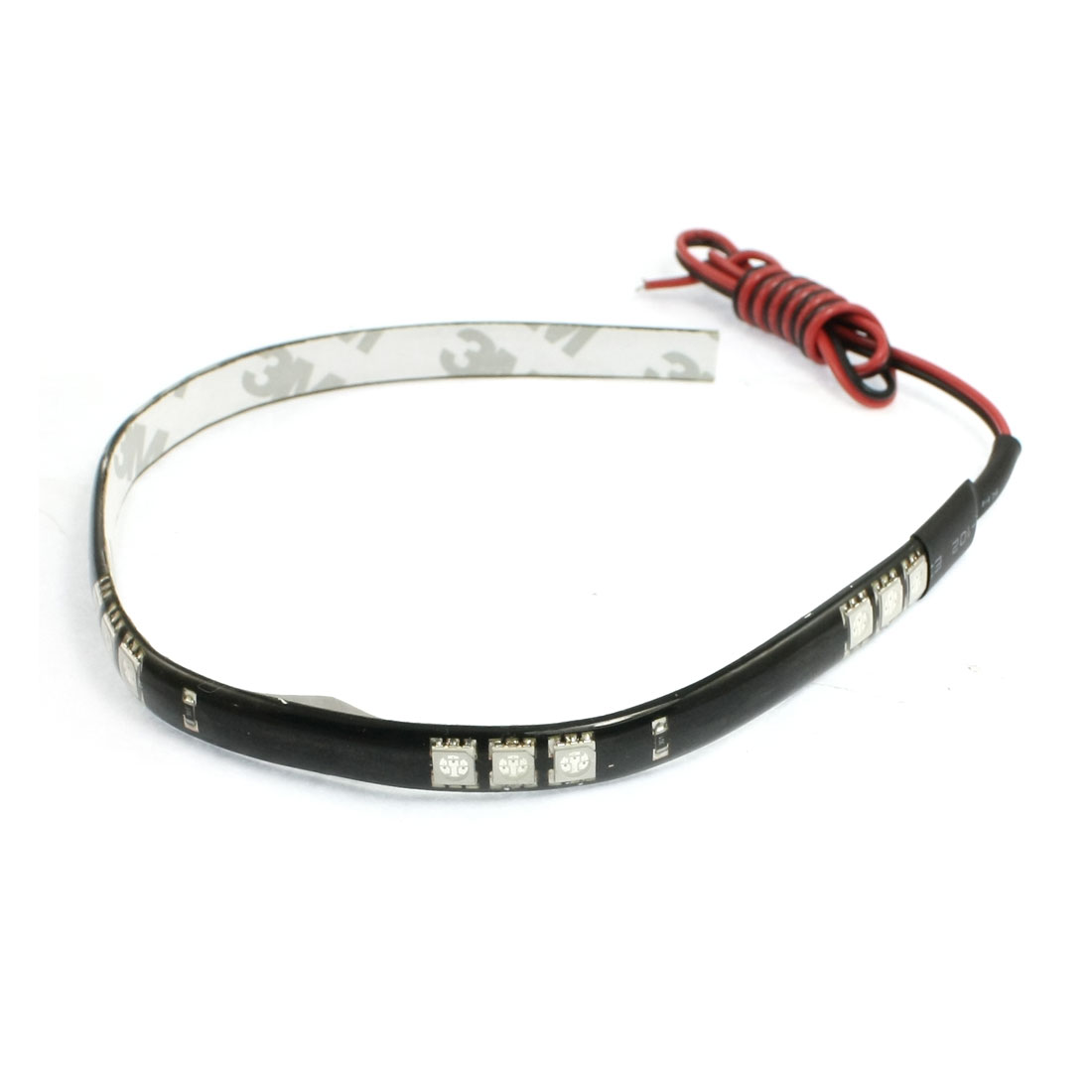 Red 15 LED 5050 SMD Adhesive Car Truck Flexible Waterproof Light Strip 11.8""