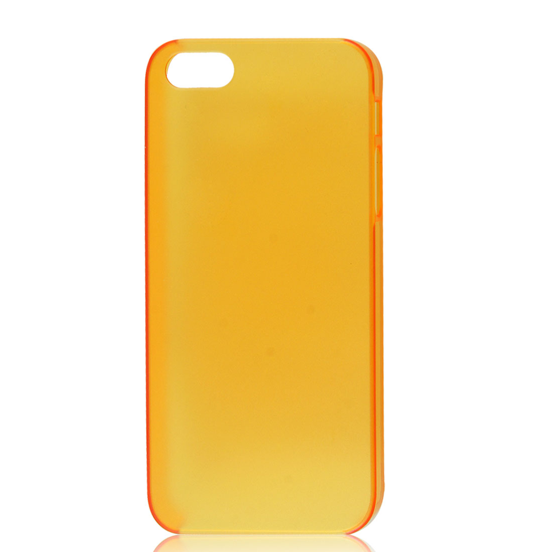 Slim Clear Orange Back Case Protective Cover for iPhone 5 5G