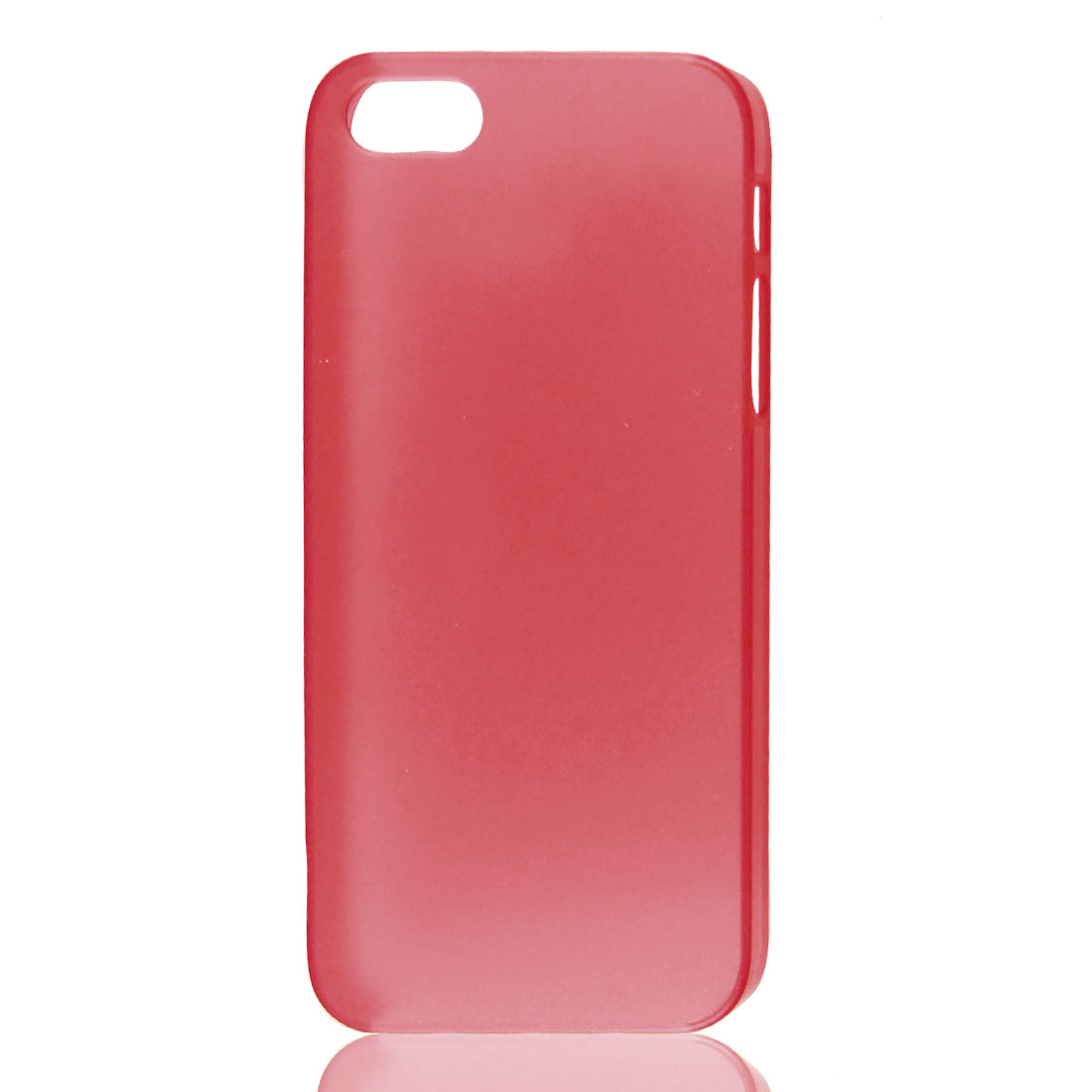 Clear Red Plastic Back Case Cover Skin for Apple iPhone 5 5G