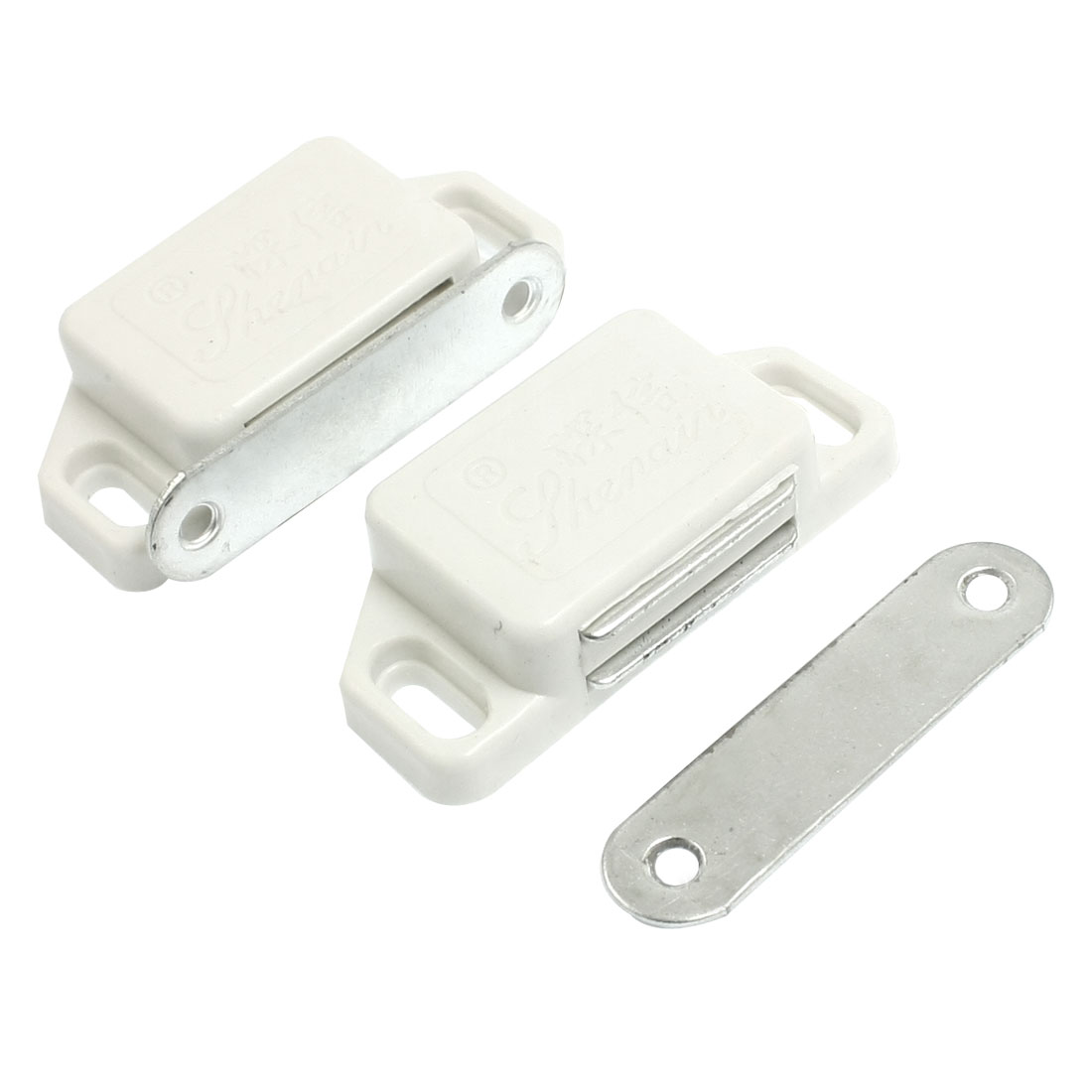 "Cabinet Cupboard Doors Hardware Magnetic Catch Latch 2.2"" 2 Pcs"