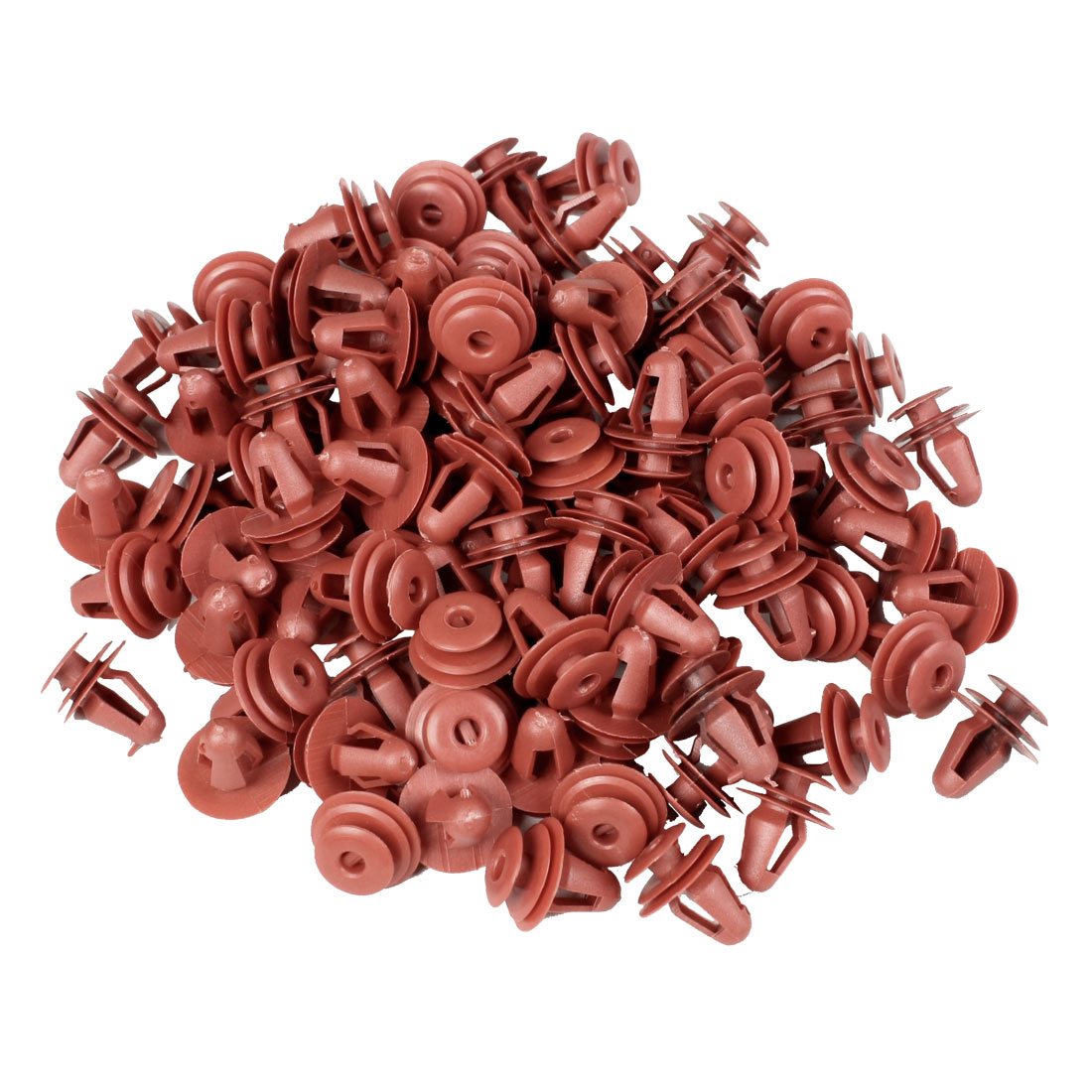 100 Pcs Red Car Fender Plastic Rivet Fastener 17mm x 14mm x 10mm