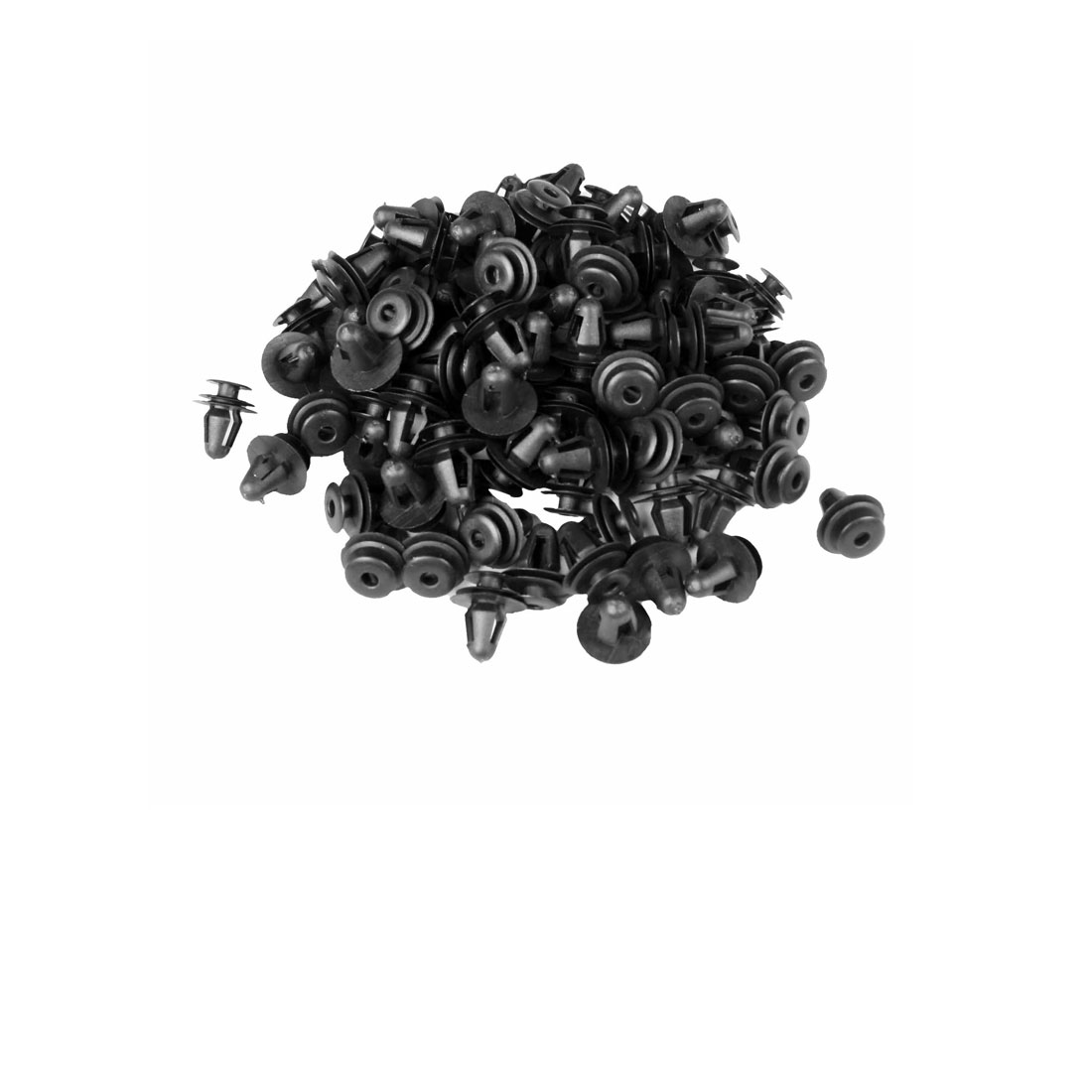 100 Pcs Black Car Fender Plastic Rivet Fastener 17mm x 14mm x 10mm