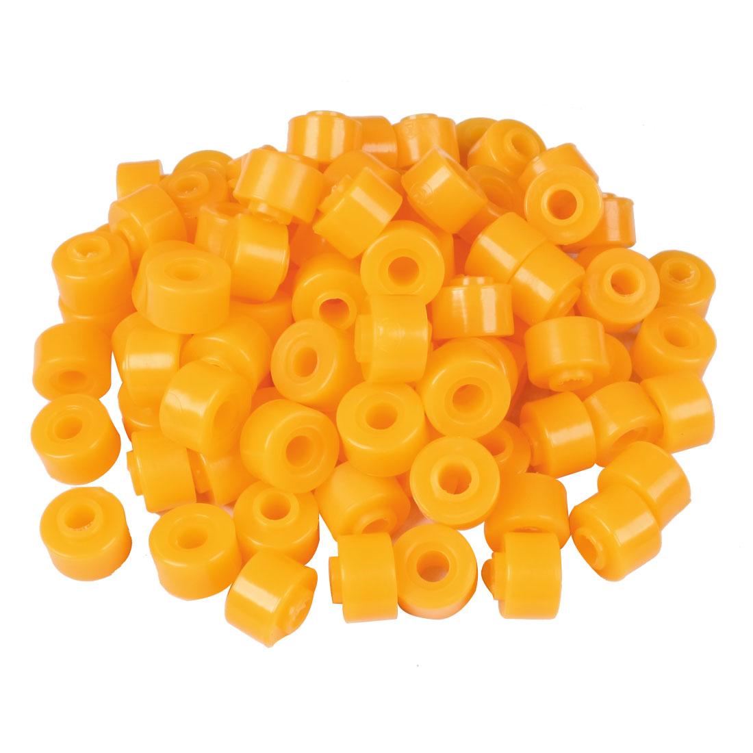 100 Pcs 27mm x 10mm x 20mm Car Rubber Shock Absorber Bush Damper Yellow