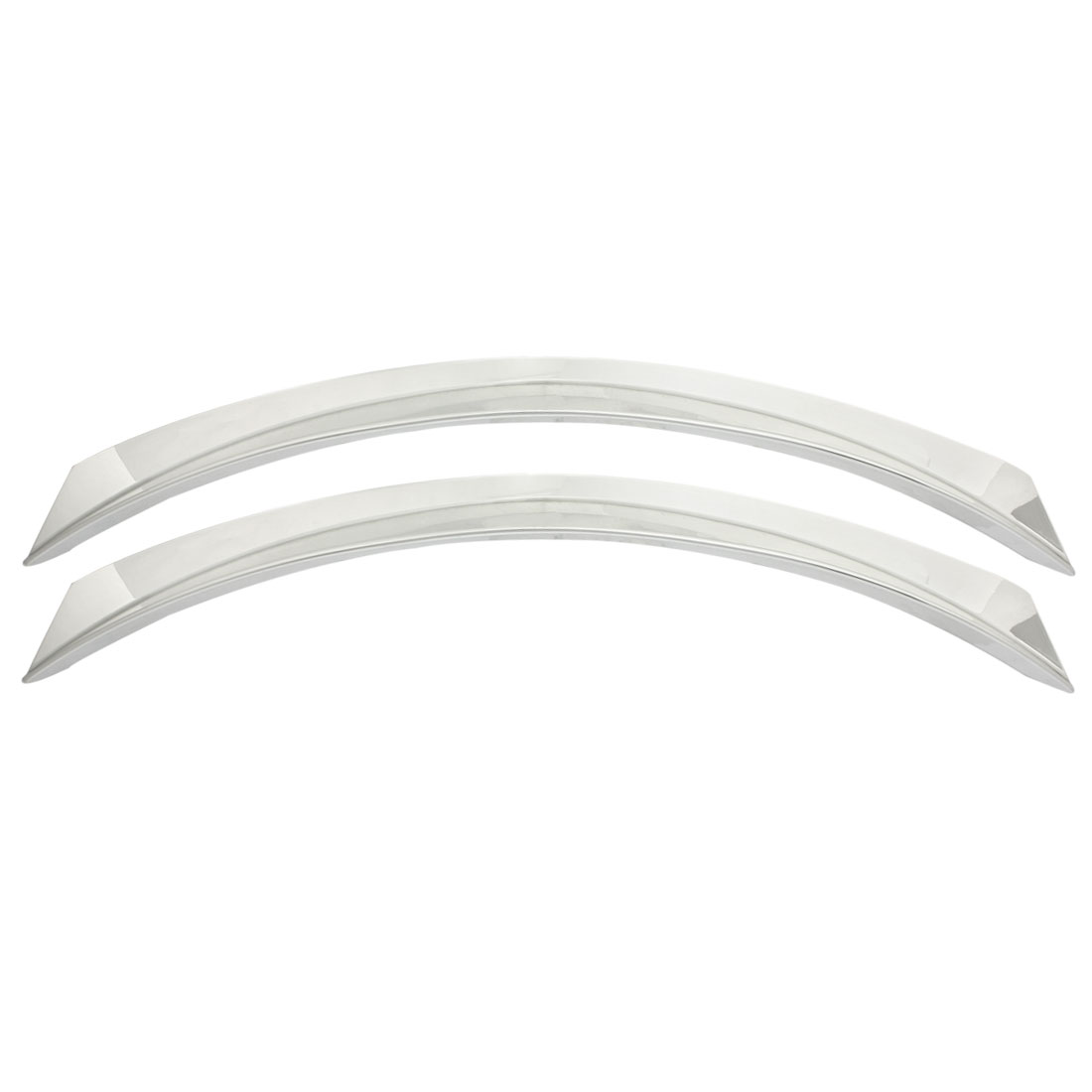 2 Pcs Silver Tone Plastic Car Wheel Arch Eyebrow Strip Line