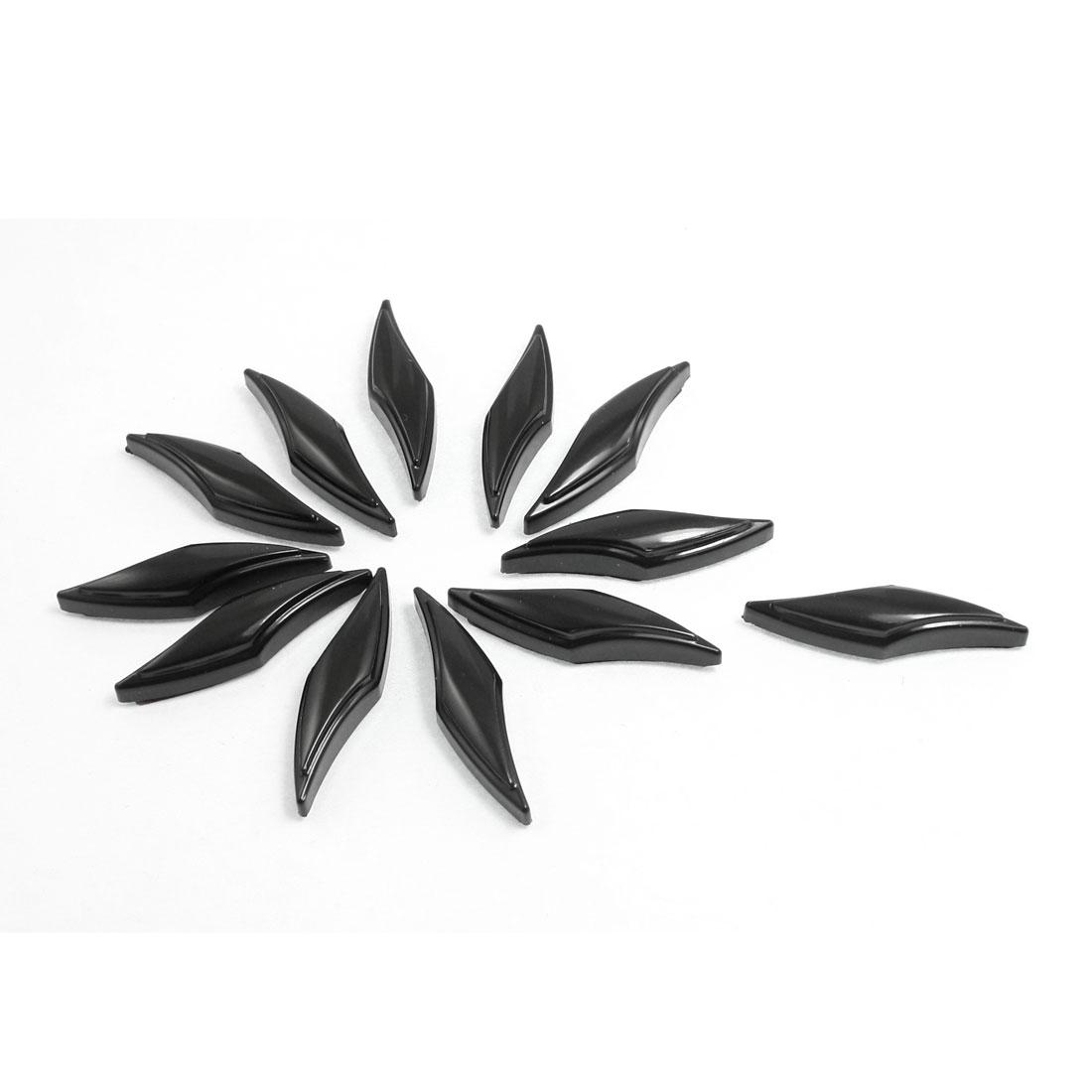 12 Pcs Black Plastic Decorative Car Door Bumper Guard Sticker