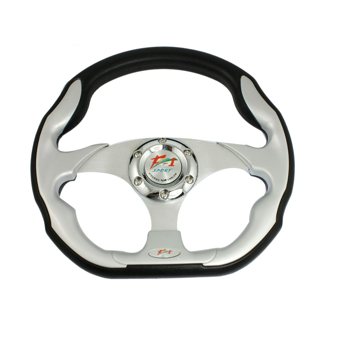 320mm Diameter Deep Dish Style 6 Bolt Racing Car Steering Wheel Black Gray