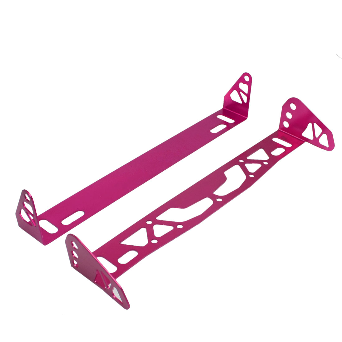 Pair Magenta Metal Car License Plate Bracket Number Frame Holder