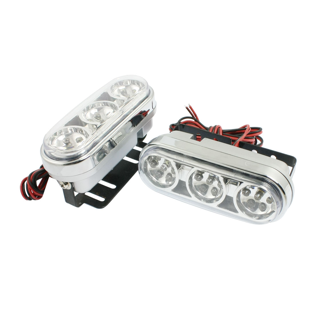 2 Pcs Car Auto White 21-LED Fog Day Daytime Running Light Lamp