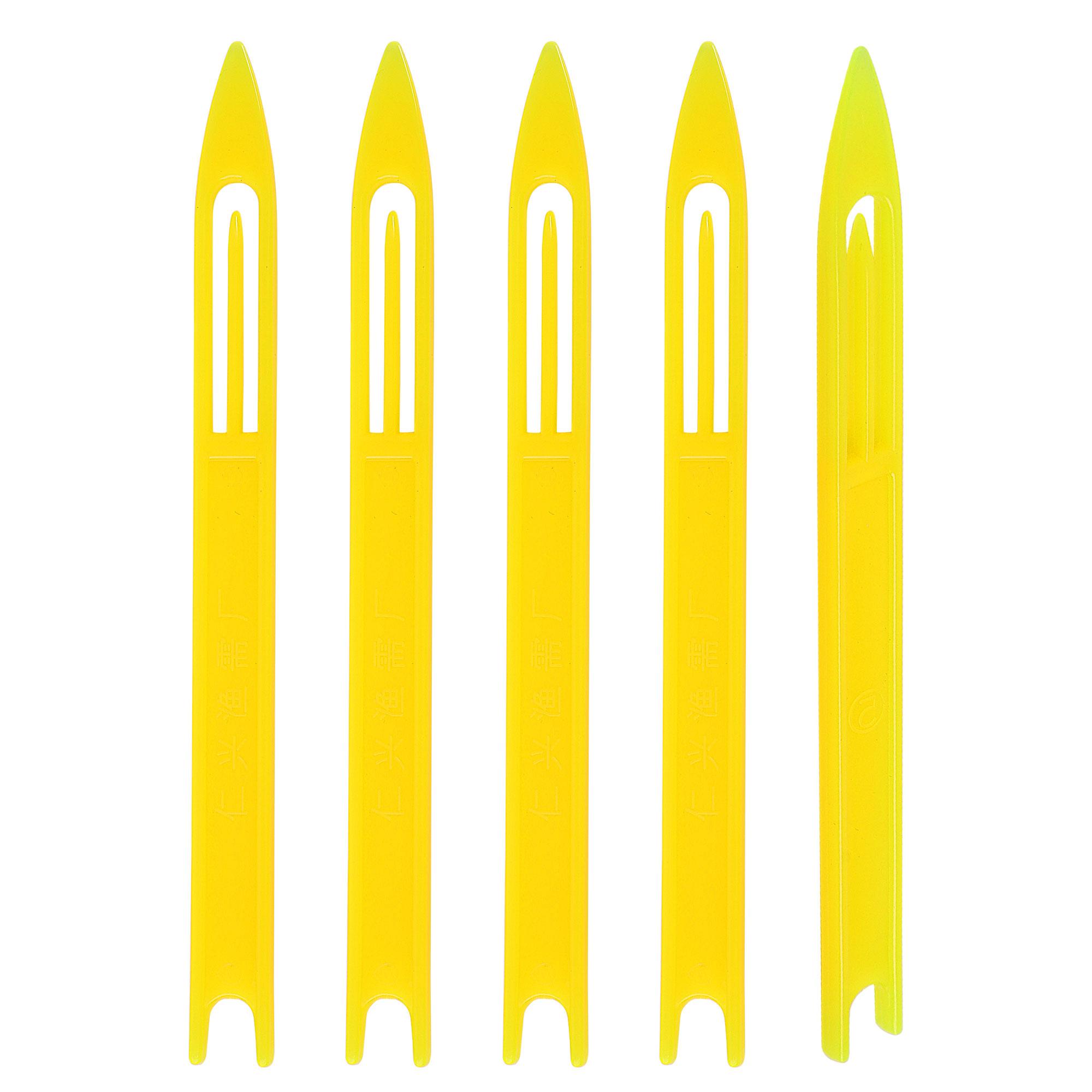 Fishermen Plastic Fishing Net Repair Netting Needle Shuttles Yellow 5# 5 Pcs