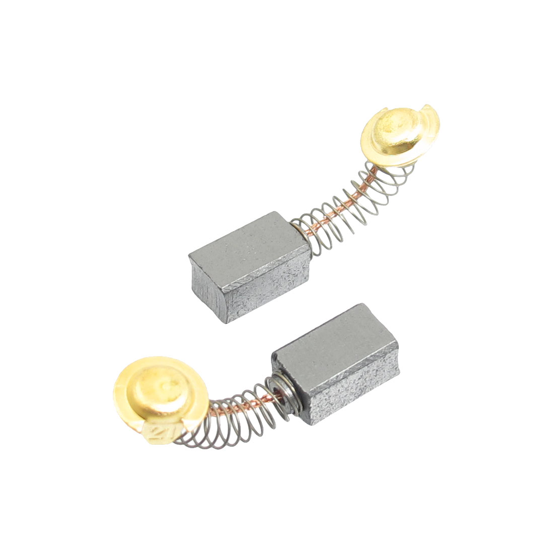 2 Pcs Electric Drill Spring Type 12.5 x 7.5 x 6.6mm Carbon Brushes
