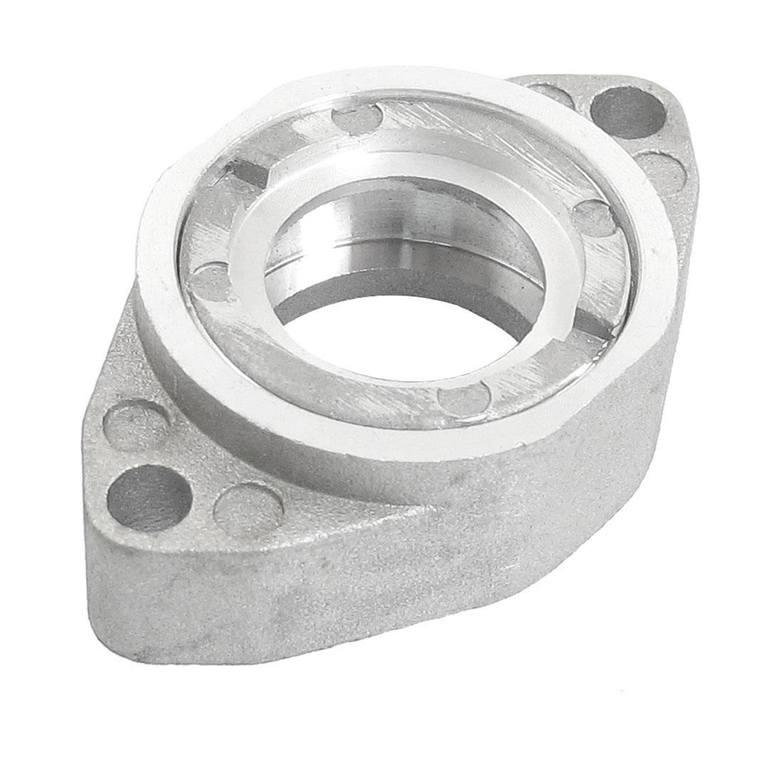 Silver Tone Aluminum Cutting Machine Repair Part Bearing Seat