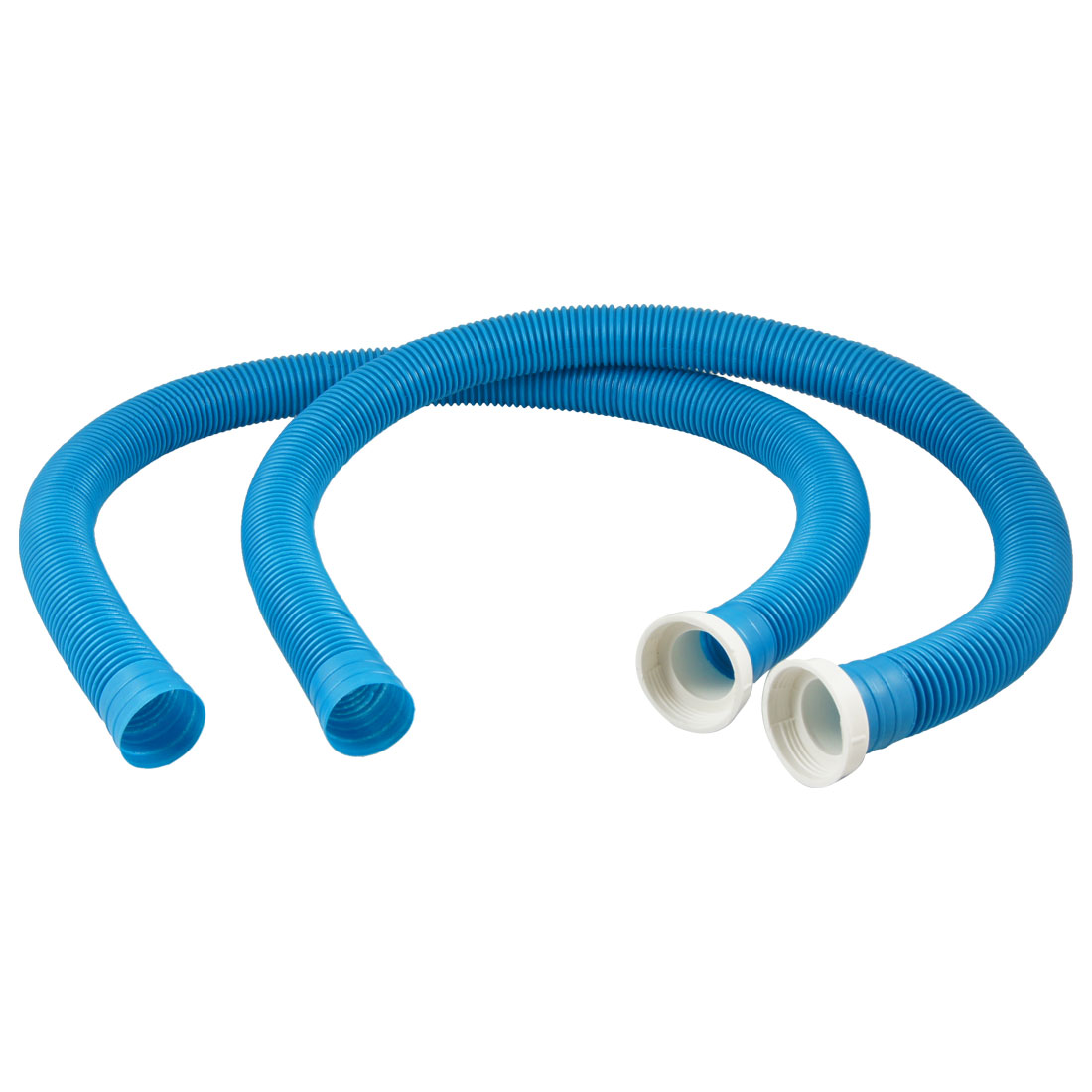 "Washing Machine Dishwasher 36"" Long Drain Hose Extension Blue 2 Pcs"