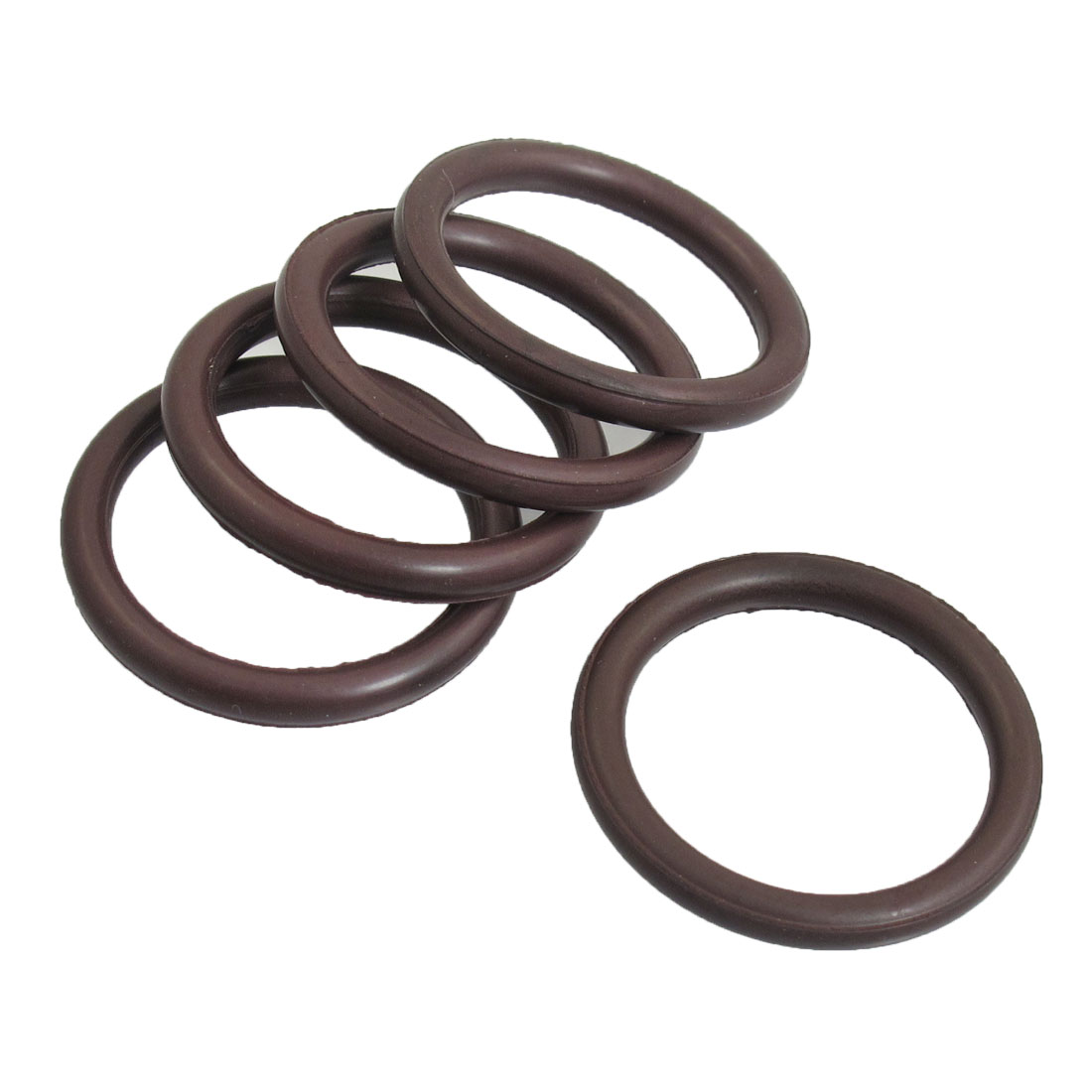 5 Pcs Brown Rubber 30mm x 24mm x 3mm O Ring Oil Seal Gaskets