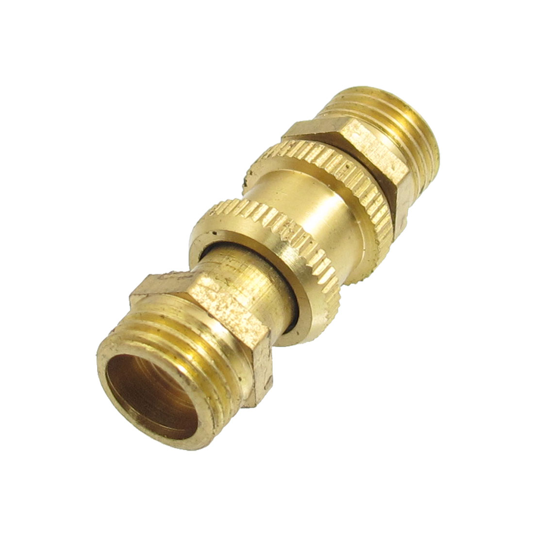 "Air Compressor 1/4""PT Male Thread Release Valve Gold Tone"