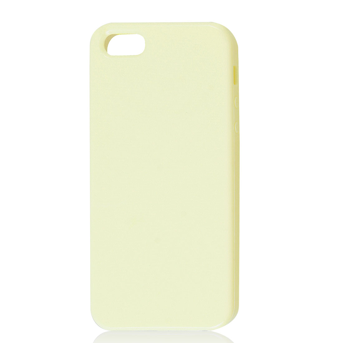 Soft Plastic TPU Protective Case Cover Skin Light Yellow for Apple iPhone 5 5G