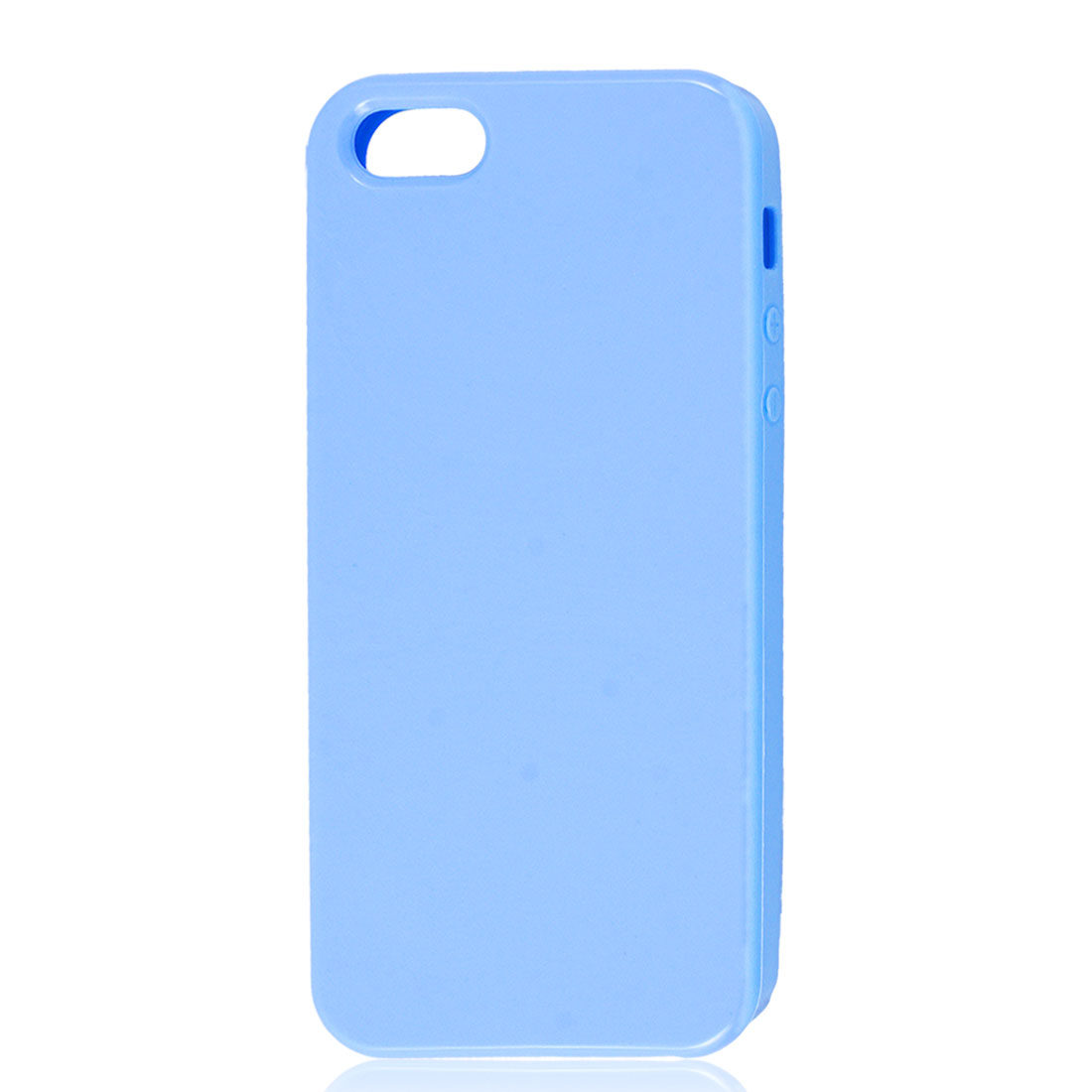 Light Blue Soft Plastic TPU Protective Case Cover Skin for Apple iPhone 5 5G