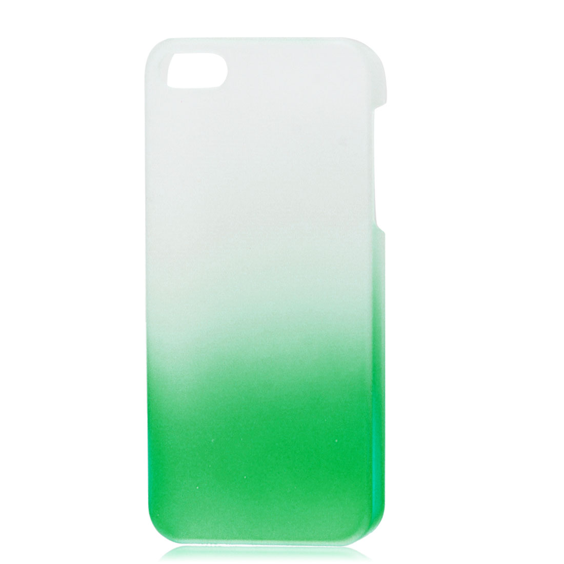 Gradient Green Translucent Hard Plastic Protective Case Cover for iPhone 5 5G