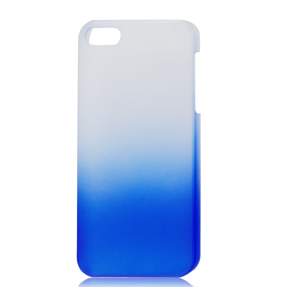 Gradient Blue Translucent Hard Plastic Protective Case Cover for iPhone 5 5G