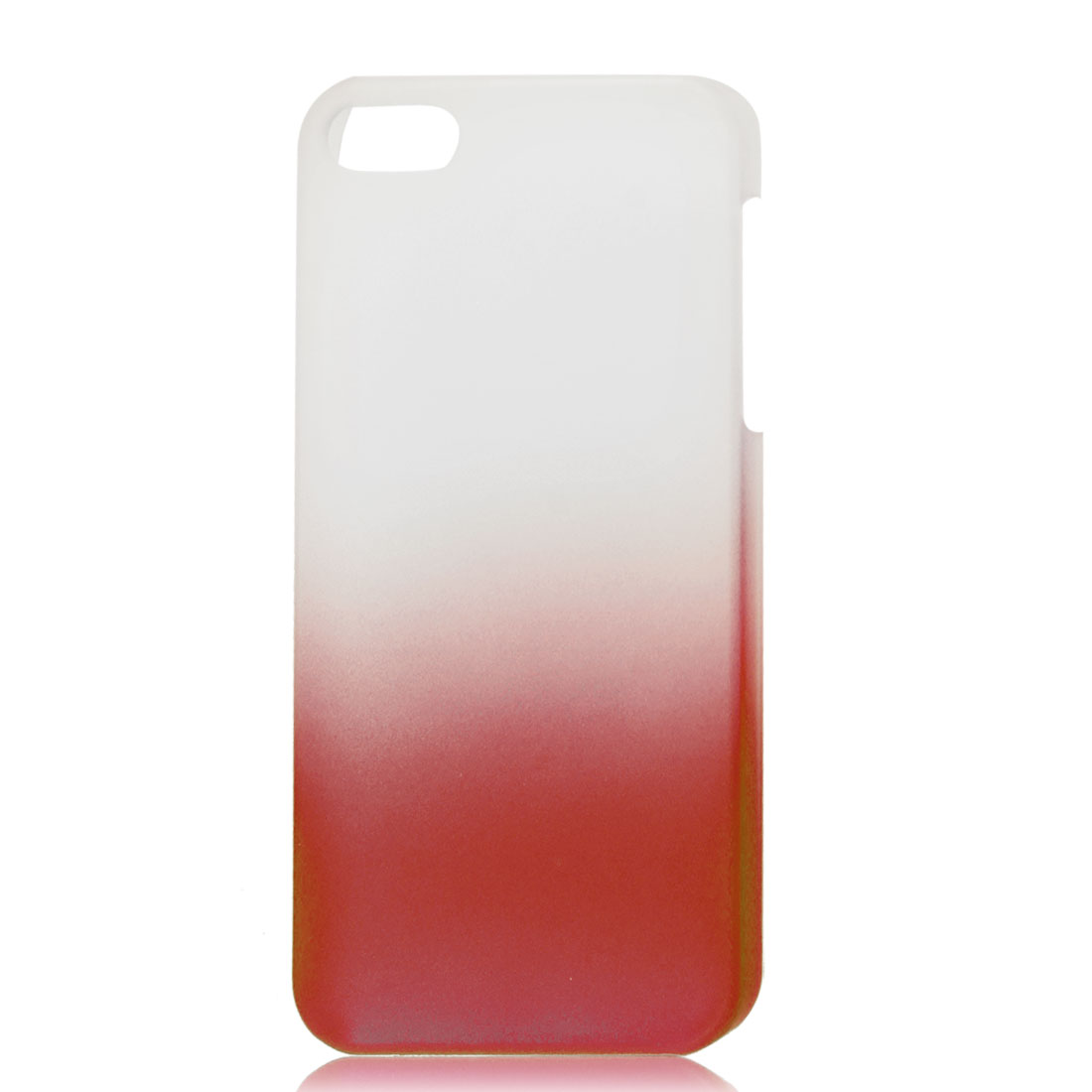 Gradient Red Translucent Hard Plastic Protective Case Cover for iPhone 5 5G