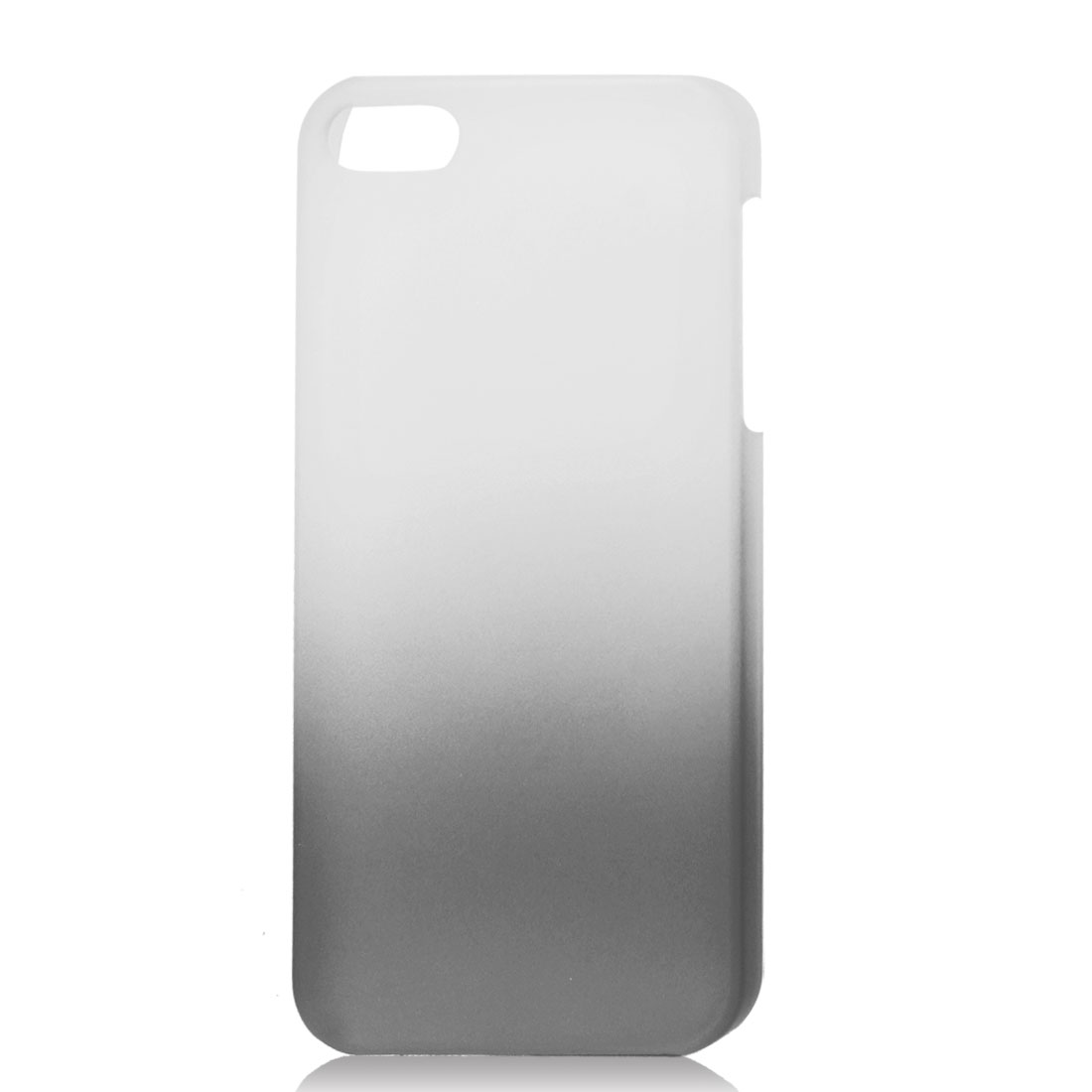 Gradient Dark Gray Translucent Hard Plastic Protective Case Cover for iPhone 5 5G