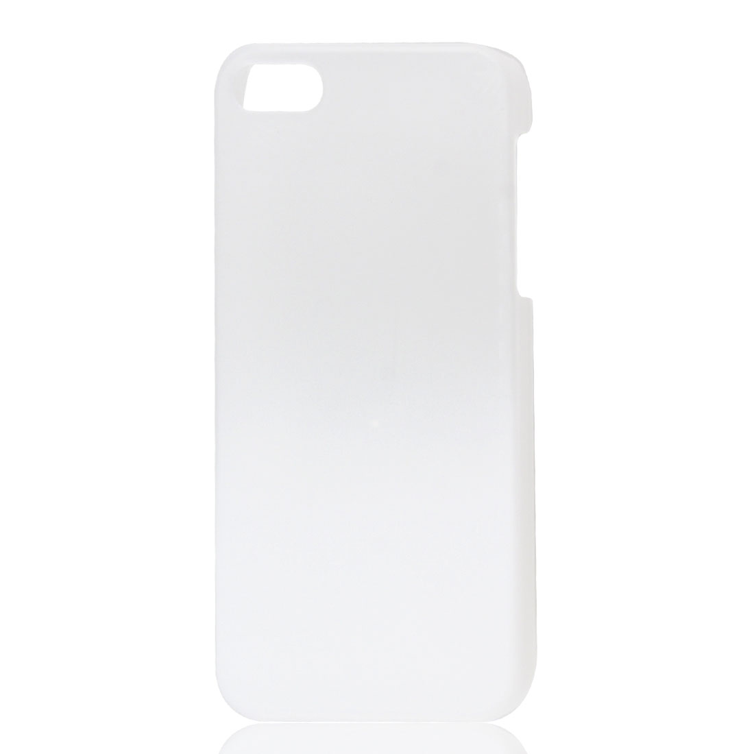 Gradient White Semi Transparent Hard Plastic Protective Case Cover for iPhone 5 5G