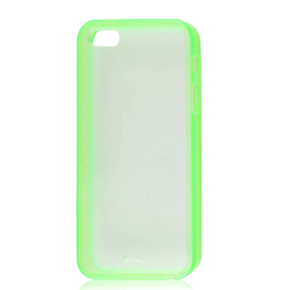 Green Soft Trim Clear Hard Back Plastic Protective Case Cover for iPhone 5 5G
