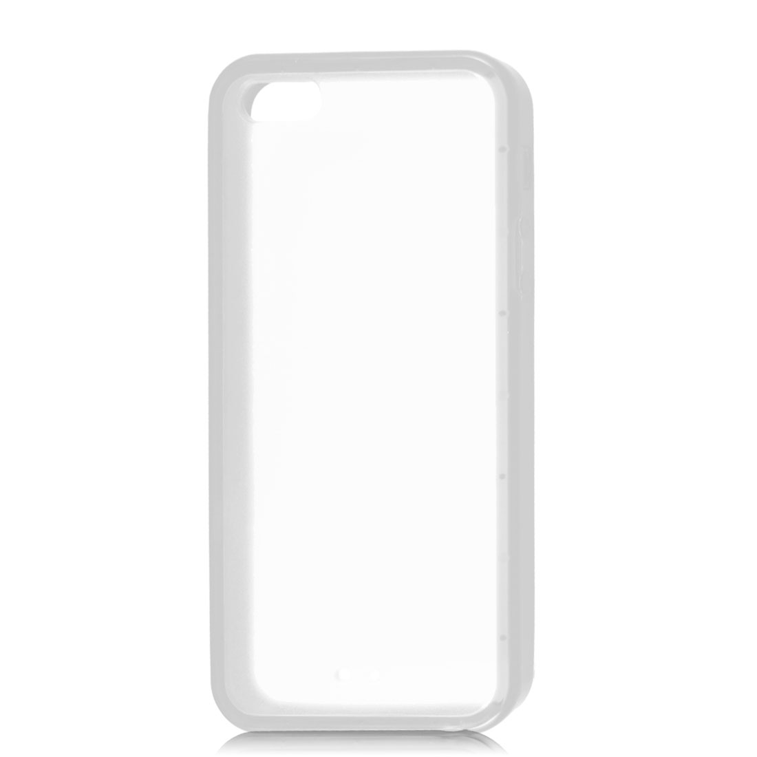 Clear Hard Back Soft Trim Plastic Protective Case Cover for iPhone 5 5G