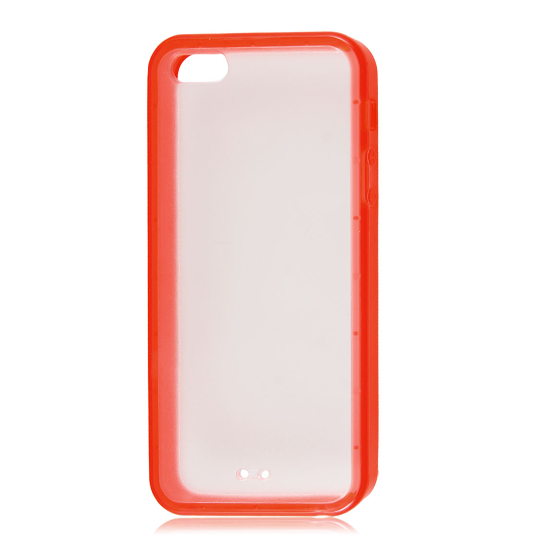 Red Soft Trim Clear Hard Back Plastic Protective Case Cover for iPhone 5 5G