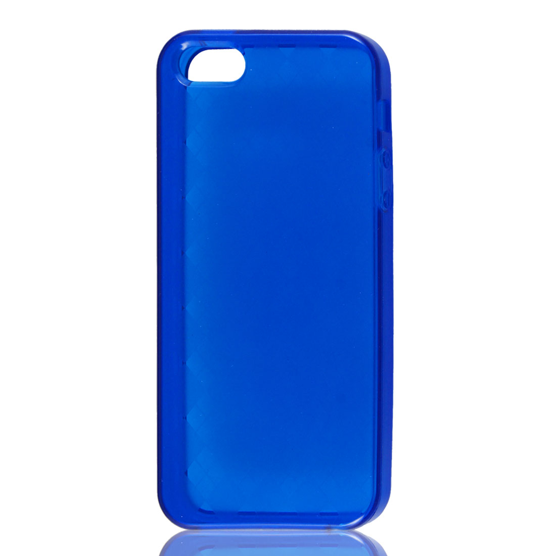 Clear Blue Argyle Pattern Soft Plastic TPU Case Cover for iPhone 5 5G