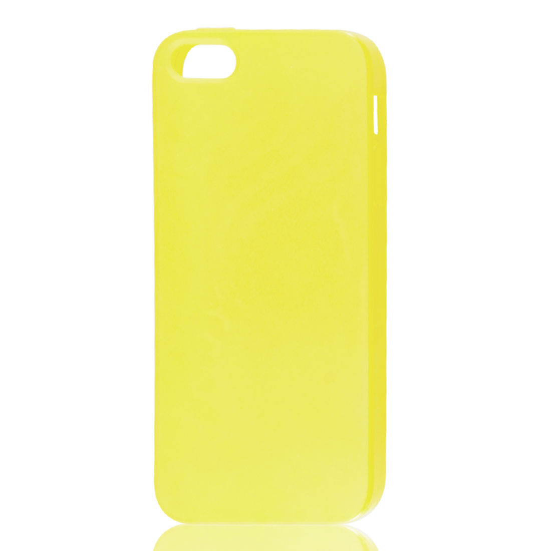 Yellow Soft Plastic Matte Protective Case Cover Skin for Apple iPhone 5 5G