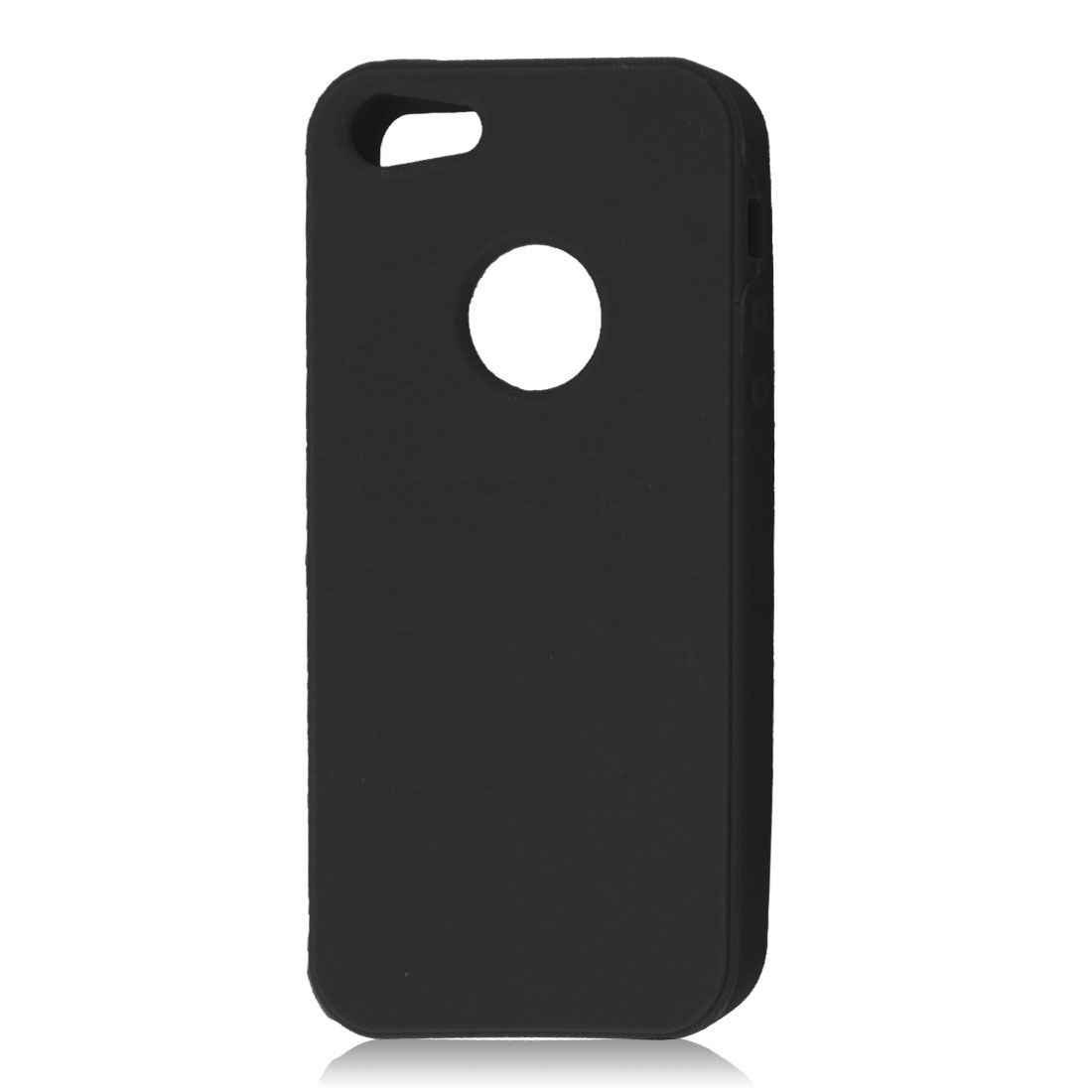 Black Silicone Protective Soft Case Skin Cover for Apple iPhone 5 5G