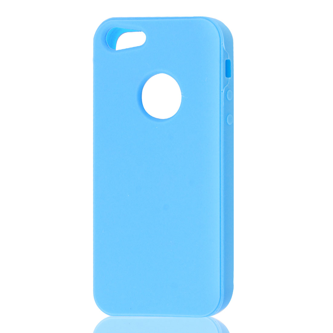 Sky Blue Silicone Protective Soft Case Skin Cover for Apple iPhone 5 5G