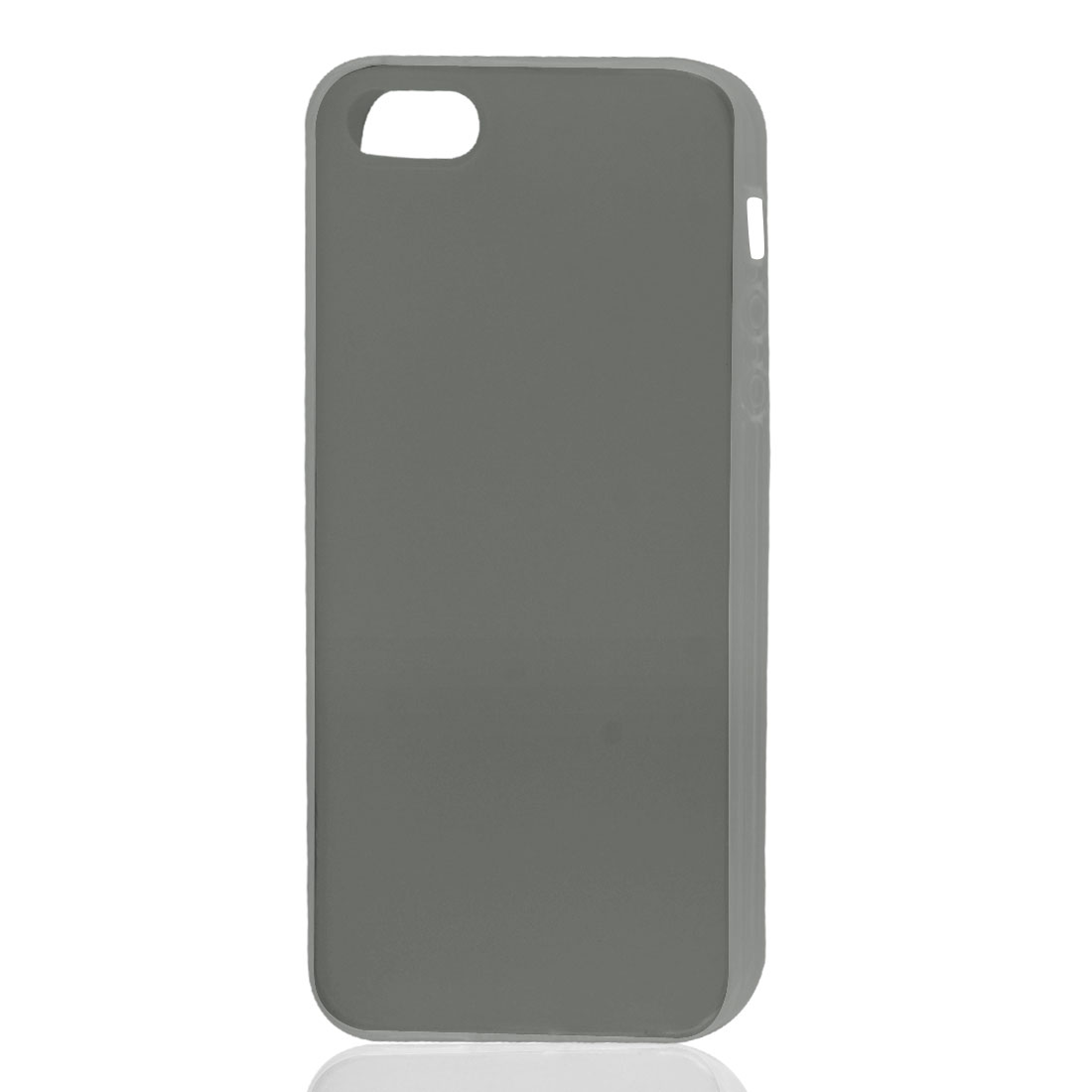 Dark Gray Soft Plastic TPU Protective Case Skin Cover for iPhone 5 5G