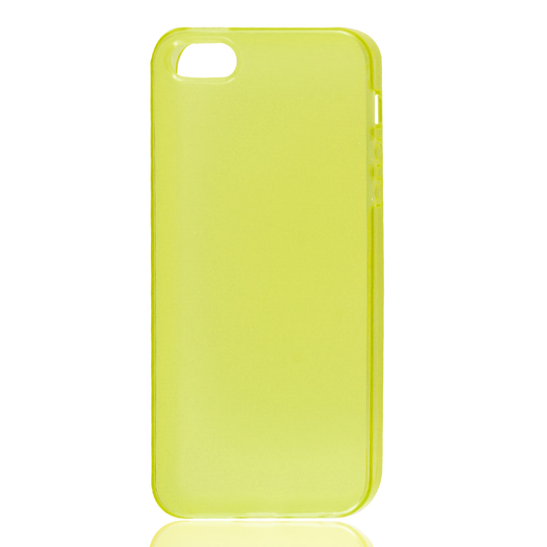 Yellow Soft Plastic TPU Protective Case Skin Cover for iPhone 5 5G