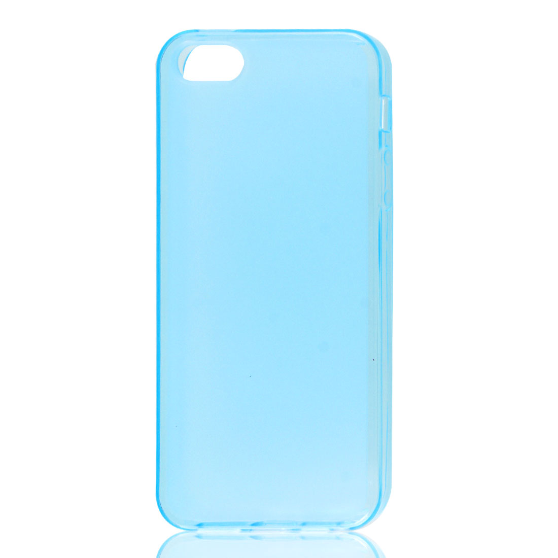 Teal Blue Soft Plastic TPU Protective Case Skin Cover for iPhone 5 5G