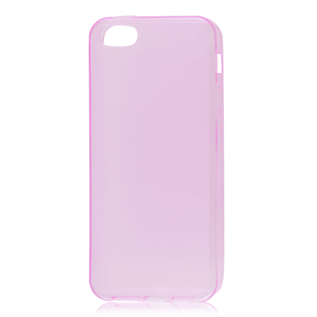 Pink Soft Plastic TPU Protective Case Skin Cover for iPhone 5 5G