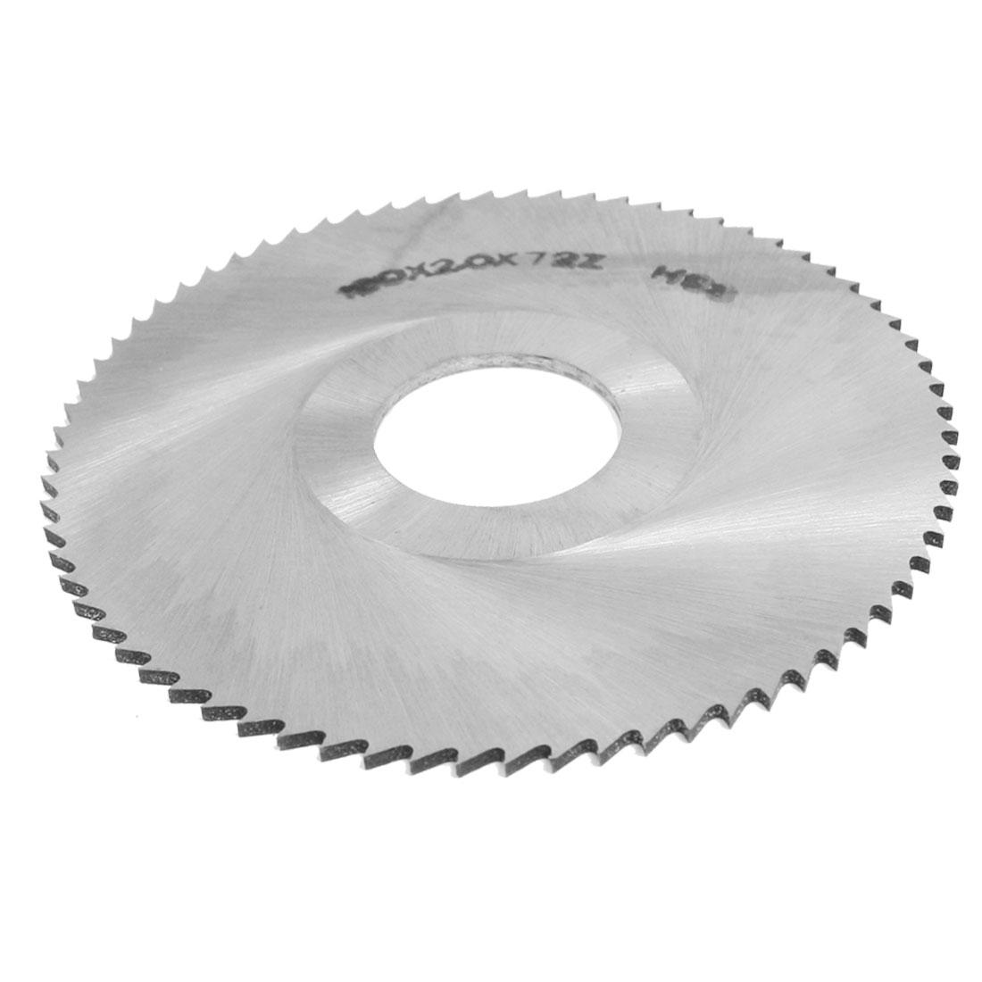 Slitting Slotting Saw Mill Cutter Disc HSS 100 x 2 x 27mm 72 Teeth
