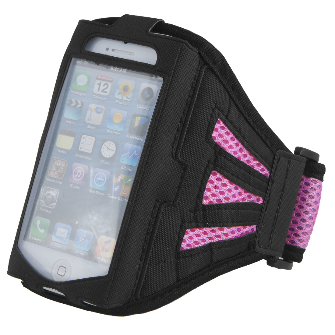Adjustable Pink Mesh Running Sports Yoga Gym Armband Case Cover for Phone