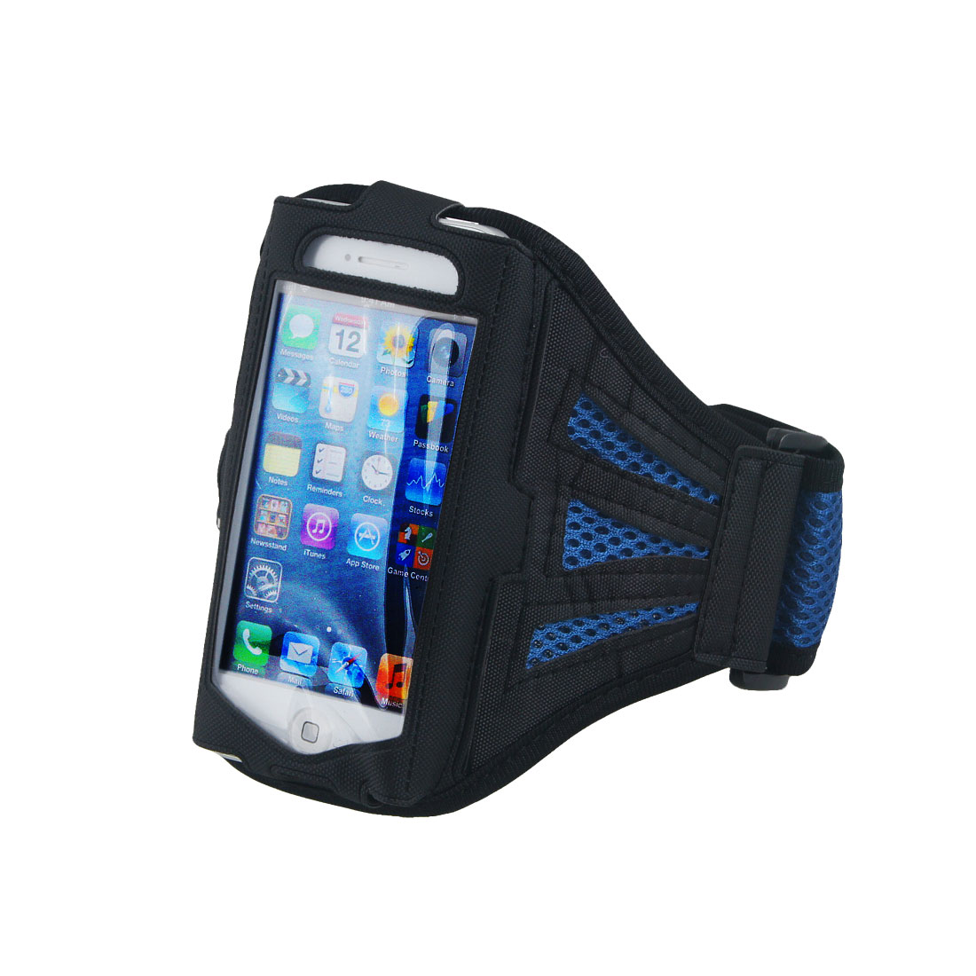 Premium Blue Mesh Running Sports Gym Armband Case Cover for Phone