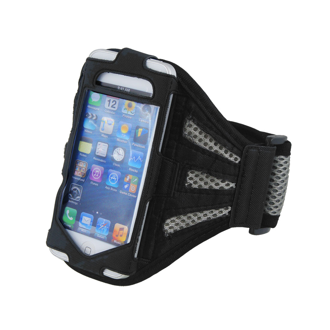 Premium Gray Running Jogging Gym Mesh Armband Case Cover for Phone