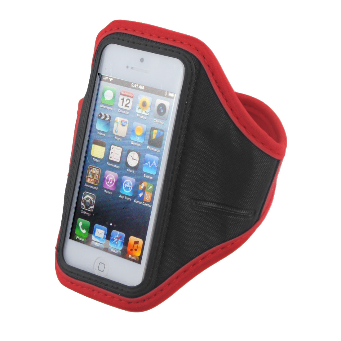 Adjustable Red Running Jogging Sports Gym Armband Case Cover Pouch for Phone